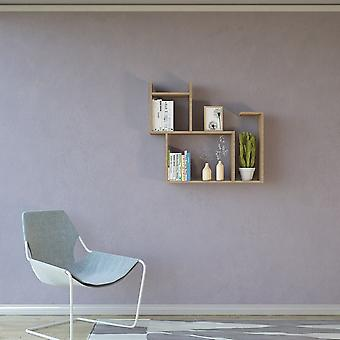 Mensola Romeo Color Legno Naturale in Truciolare Melaminico 84x22x75 cm