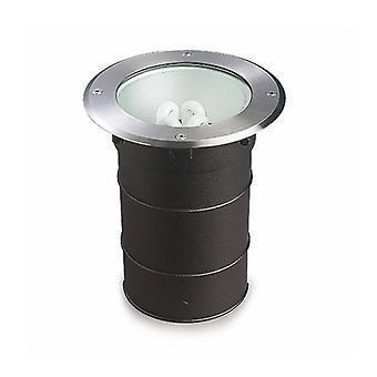 Gea Recessed Spotlight, E27, Stainless Steel, Aluminum And Glass
