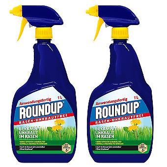 Sparset: 2 x ROUNDUP® Lawn Weed Free AF, 1 litre