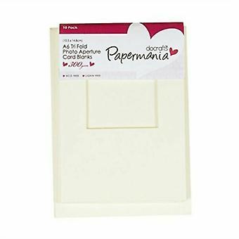 ペーパーマニアアパーチャカード&封筒三つ折り窓A6クリーム(10pk) (PMA 150108)