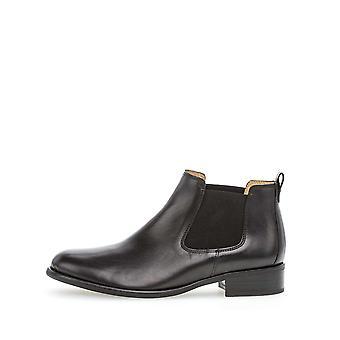 Gabor foulardcalf schwarz booties womens zwart 002