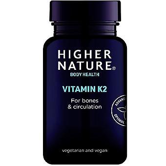 Korkeampi luonto Vitamiini K2 kasvi kapselit 30 (QVK030)