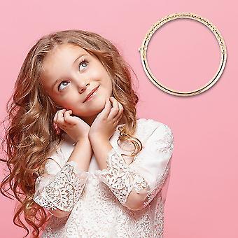 "TJC Allegro Bangle voor vrouwen Geel Verguld Sterling Silver Size 6.2"""