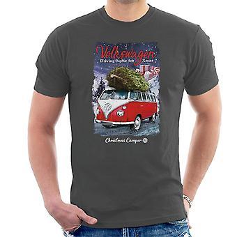 Volkswagen Christmas Camper Driving Home For Xmas Men's T-Shirt