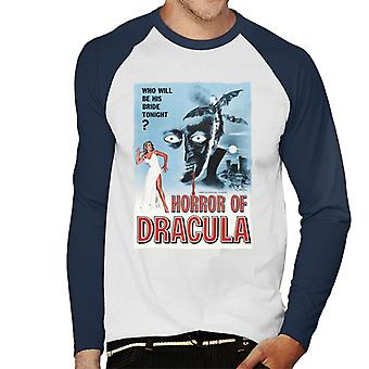 Hammer Horror Filme Dracula klassische Film Poster Männer's Baseball langärmelige T-Shirt