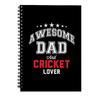 Awesome Pappa Og Cricket Elsker Spiral Notebook