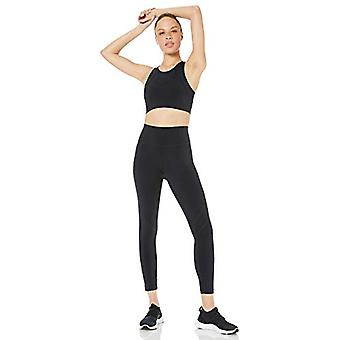 Core 10 Women's Standard Onstride Back Cut-Out Workout Sports Bra, Black, L (...