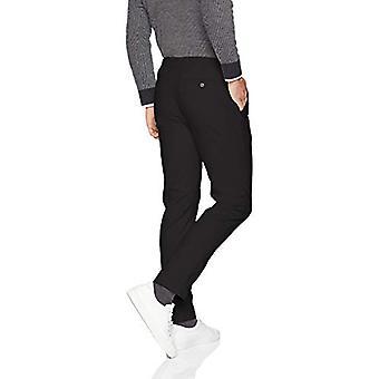 Essentials Män & apos; s Slim-Fit Casual Stretch Khaki, Svart, 32W x 30L