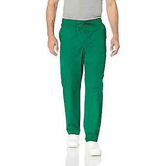 Essentials Men's Quick-Dry Stretch Scrub Hose, Wald grün, X-Large