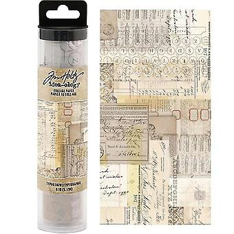 Advantus Tim Holtz Collage Papir typografi (6yards) (TH93952)