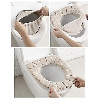 Comfortabele Velvet Coral Badkamer toiletbril cover mat voor het winterseizoen