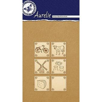 Aurelie Made In Holland #3 Vintage Edged Ornaments