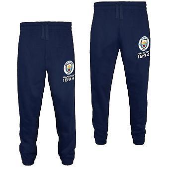 Manchester City Mens Joggers Jog Pants Fleece OFFICIAL Football Gift