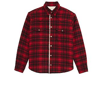Saint Laurent 636685y592v9703 Men's Red Wool Shirt