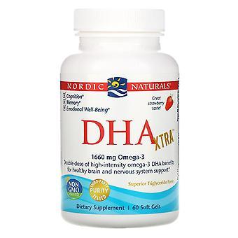 Nordic Naturals, DHA Xtra, Strawberry, 1,000 mg, 60 Soft Gels