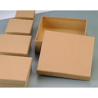 5 verschiedene quadratische flache Papier Mache Stapeln Boxen mit Deckel zu dekorieren