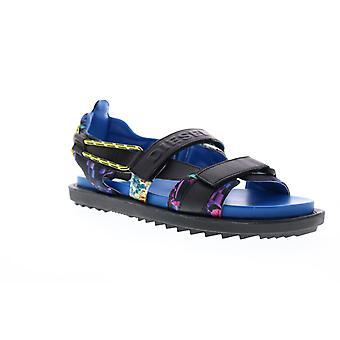 Diesel Sa-Berlin Sand Fss Mens Black Leather Sport Sandals Shoes