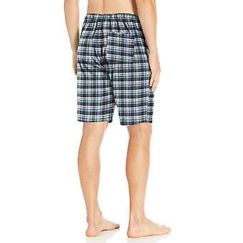 Brand - Goodthreads Men's Flannel Pajama Short, Blue White Check, X-La...