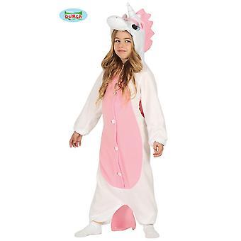 Guirca Einhorn Kostüm Weiß-Rosa für Kinder Fabelwesen Overall