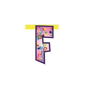 Bannière de liaison 20cm Lettre - Décoration de partie F