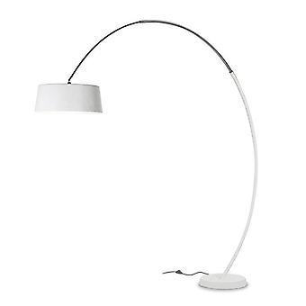 Leds-C4 GROK - 3 Light Adjustable Floor Lamp with White Shade, E27