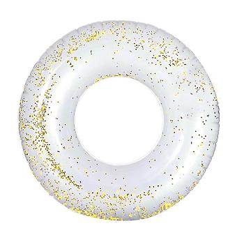 70cm Dia Gold Crystal Sequin Interior Swim Ring Tube Water Toy