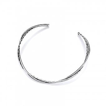 Cavendish French Spots and Twists Silver Collar