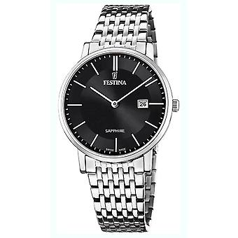 Festina swiss made watch for Analog Quartz Men with stainless steel bracelet F20018/3