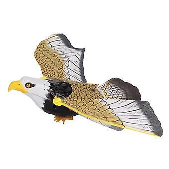 Big Electric Eagle Flying Bird, Led Light Eye Glowing, Sound Hawk Toy