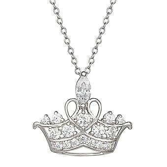 Disney Princess Tiara Sterling hopea riipus kaulakoru