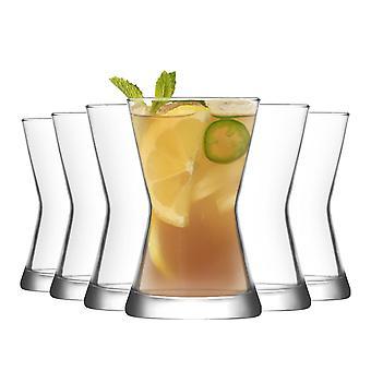LAV Derin Tazas de té de vidrio contemporáneo tazas de café - 140ml - paquete de 6