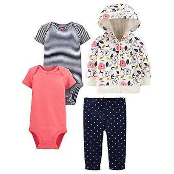 Bucurii simple de Carterăs Baby Girlsă 4-Piece Jacket, Pant și Bodysuit Set