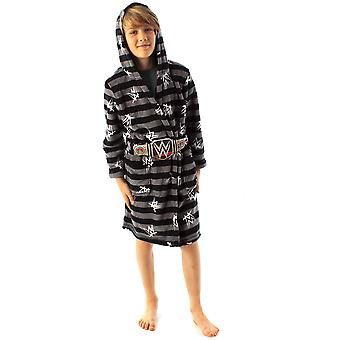 WWE Dressing Gown For Boys Wrestling Championship Title Belt Kids Bathrobe