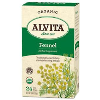 Alvita Teas Organic Herbal Tea, Fennel Seed 24 BAGS