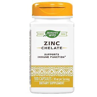 Nature's Way Zinc Chelate, 30 mg, Amino Acid Chelate 100 Caps