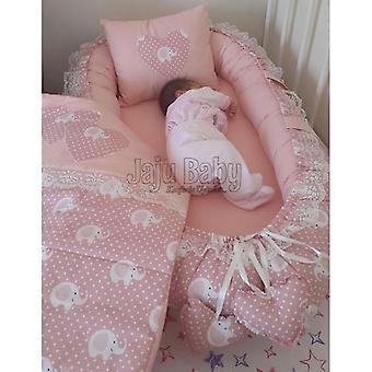 Baby Elephant Patterned Luxury Orthopedic Bedding Nest
