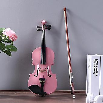Akustische Violine Fiddle mit Fall Bogen Rosin Musikinstrument Gloss Musical