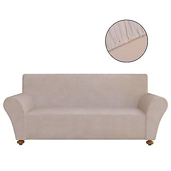 Sofa husse sofa cover Stretchhusse Beige polyester jersey