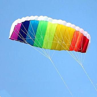 Dual-line Parafoil Kites Flying Rainbow Sports, Beach Stunt Kite With Handle