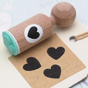 Heart Rubber Stamp Round - VERY MINI - Craft / Wedding / Scrapbooking