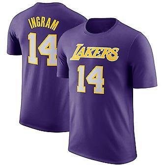 לוס אנג'לס לייקרס 14 INGRAM חולצת טריקו ספורט למעלה DX018
