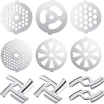 Meat Grinder Blades, Plate Discs, Stainless Steel Food Accessories