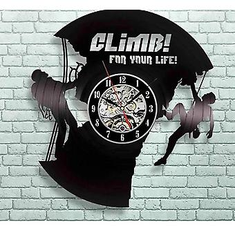 Creative Vinyl Record Climbing Home Wall Clock