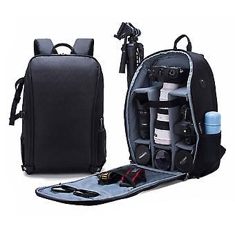 SLR Camera Bag Anti-theft Waterproof Large Capacity Shoulder Outdoor Photography Bag Fashion Camera Backpack(Black)