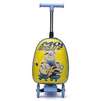 "16"" Inch Kids Scooter Luggage Cute Cabin Trolley Trunk Lazy Suitcase"