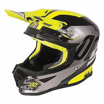 Shot Furious 2020 MX Helmet Kids Shadow Gloss Neon Yellow ACU Approuvé