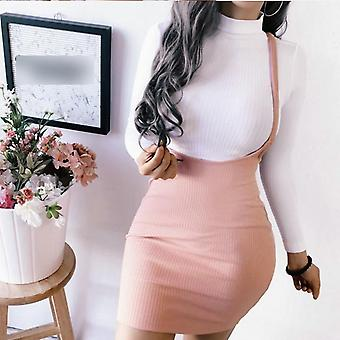 Summer Skirts Women Ladies Short Mini Preppy Style High Waist Solid Stretch