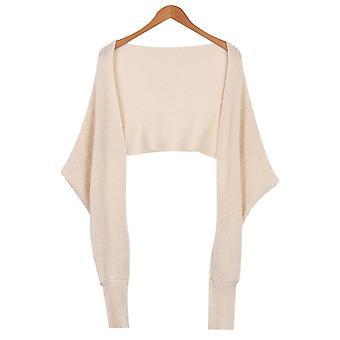 Autumn Sweaters Off Shoulder Cross Wrap Sweater Shirt Slash Neck Short Tee Tops