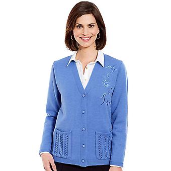 Chums Ladies Embroidered Cardigan