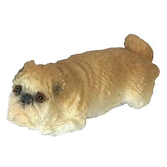 Nuket Talo Bulldog makaa alas 1:24 asteikko puoli tuumaa lemmikkikoira eläin